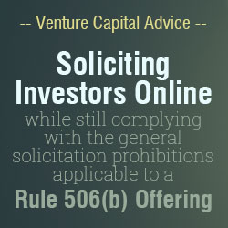 Understanding Rule 506b Offering when Soliciting for Investors Online
