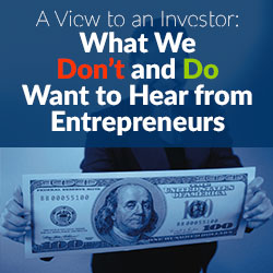 Great Advice for Pitching Investors