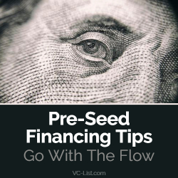 Pre-Seed Financing Tips – Go With The Flow
