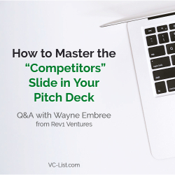 Pitch Deck Competitors Slide